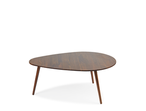 Eva Droplet Coffee Table - Solid Black Walnut