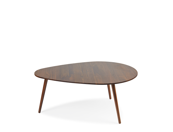 [CLEARANCE] Eva Droplet Coffee Table - Solid Black Walnut