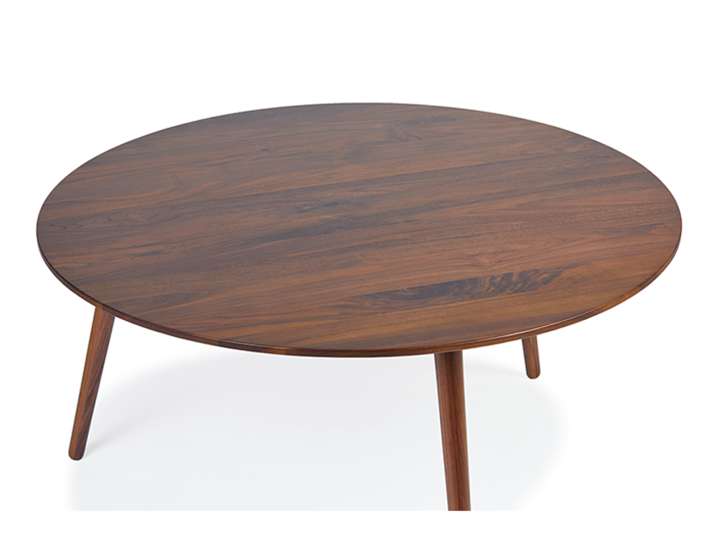 Eva Coffee & Side Table Set - Solid Black Walnut