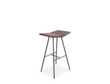 Flo Bar Stool - Solid Black Walnut