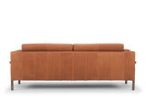 Hampton Leather Sofa, Bronze (Premium)