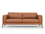 Hampton 3 Seater Leather Sofa, Caramel
