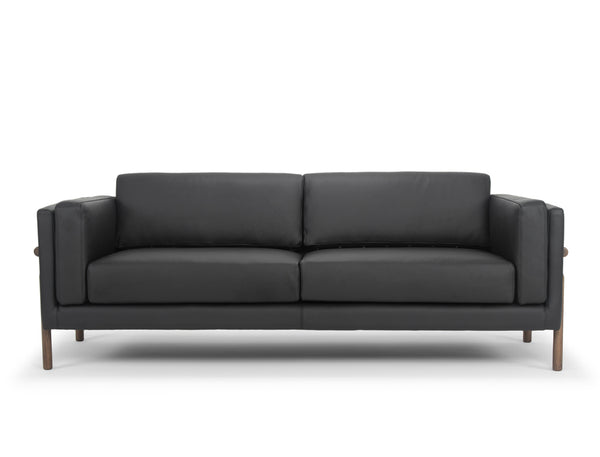 Hampton Leather Sofa, Black