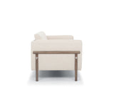 Hampton Sofa, White Quartz