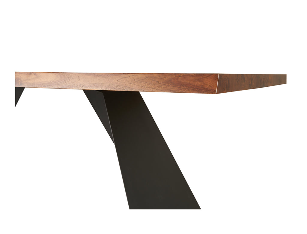 Laurent Dining Table (180cm) - Solid Black Walnut