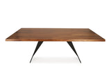Laurent Dining Table (220cm) - Solid Black Walnut