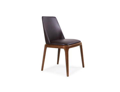 Letizia Side Chair, Dark Brown
