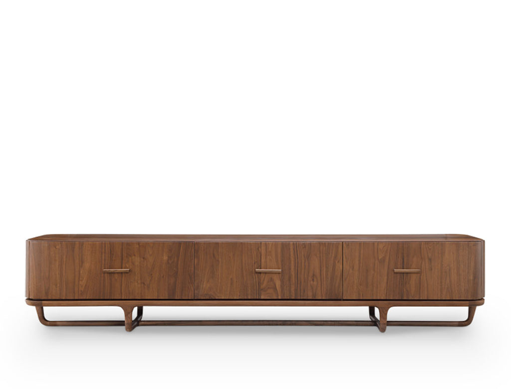 Lewis TV Console - Solid Black Walnut