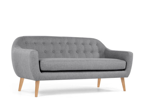 [CLEARANCE] Megan 3-Seater Sofa, Light Grey