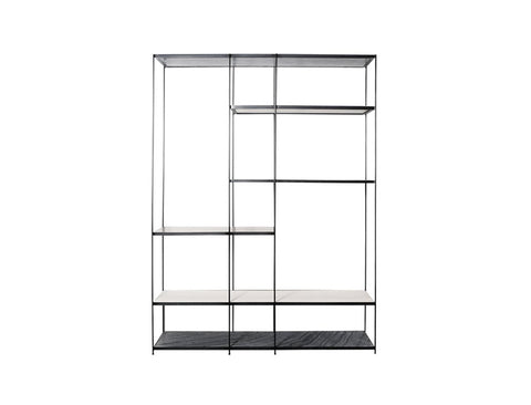 [CLEARANCE] Montreal High Shelf, Mixed Colour Marble