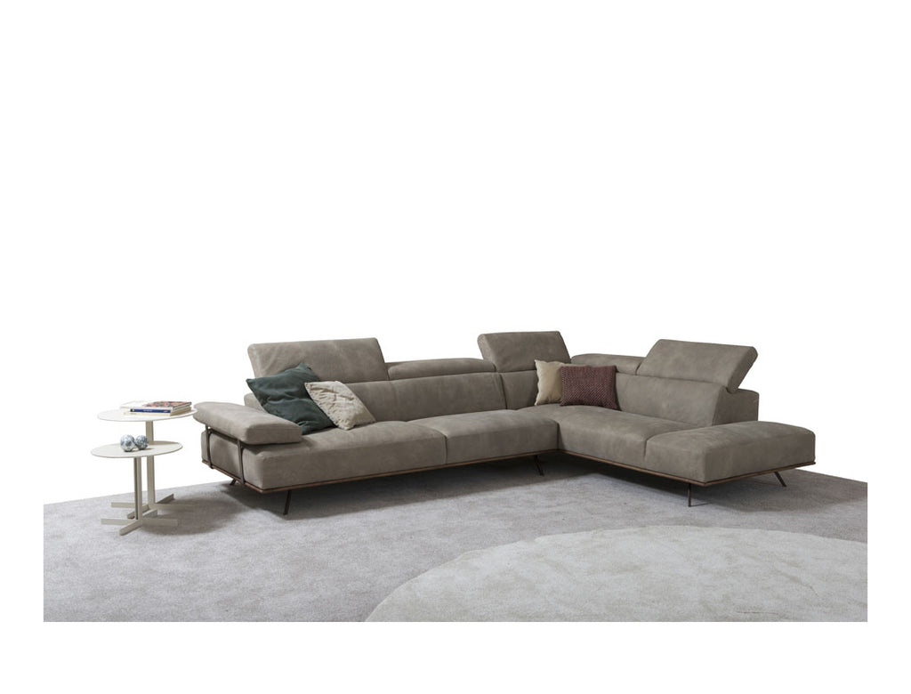 Newyork L-Shape Leather Sofa (Premium), 314+344 (RHF)