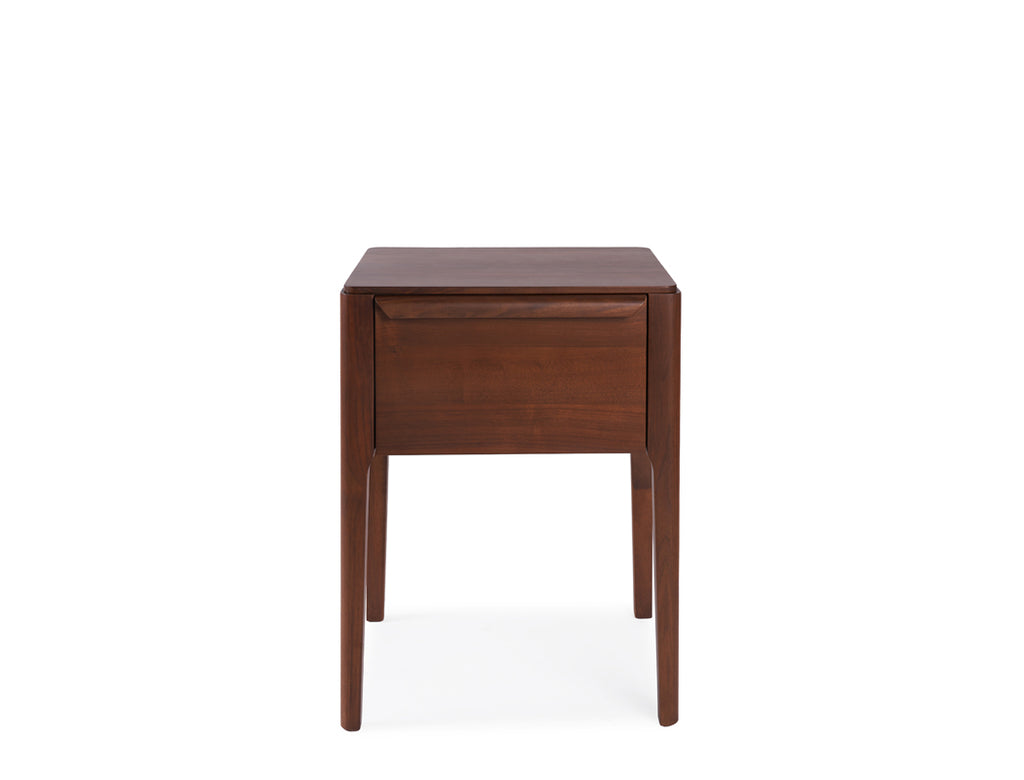 Regent Tall Side Table - Solid Black Walnut