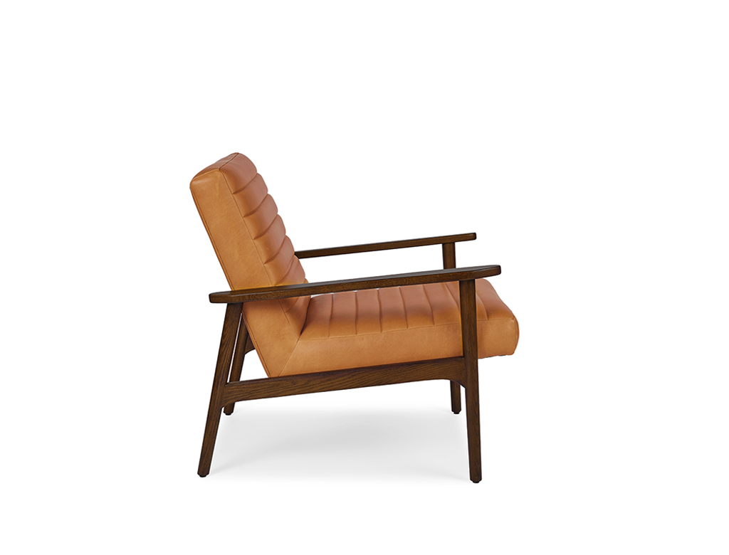 Sloane Leather Lounge Chair, Russet (Premium)