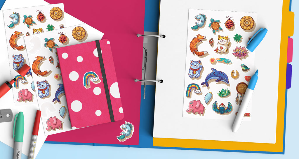 Add a secret little lucky charm to your notebooks