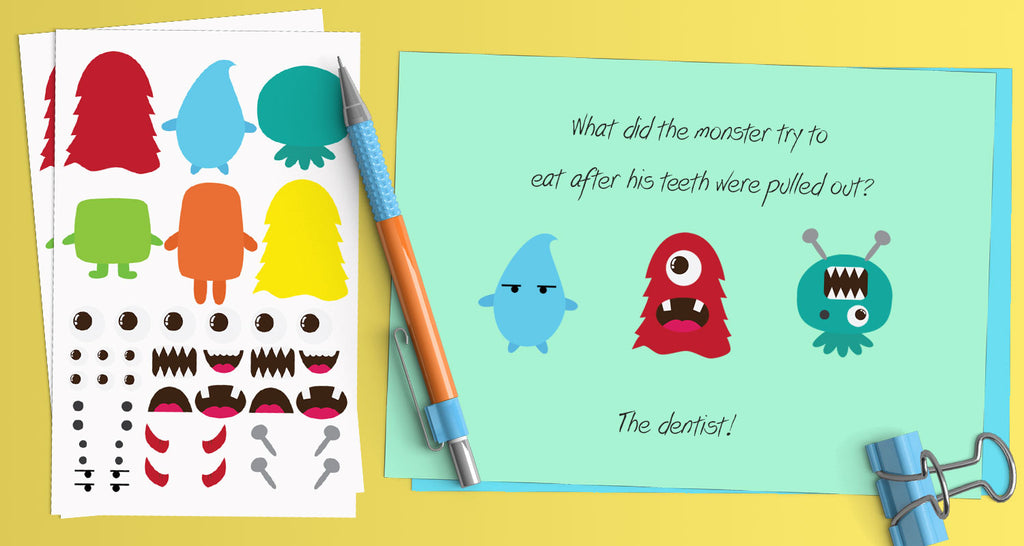 Get creative with our DIY Sticker Monsters