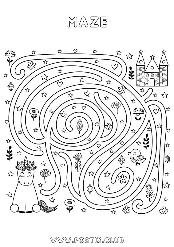 Colouring in maze