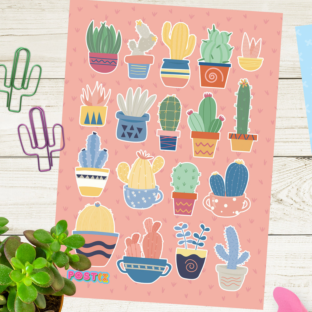 Cactus Collection A6 Sticker Sheet