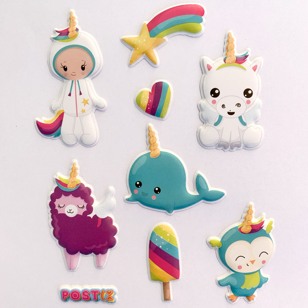Who Wants to be a Unicorn 3D Sticker Sheet