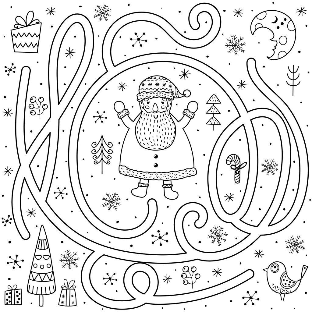 Santa's Colouring-in Maze PDF Download