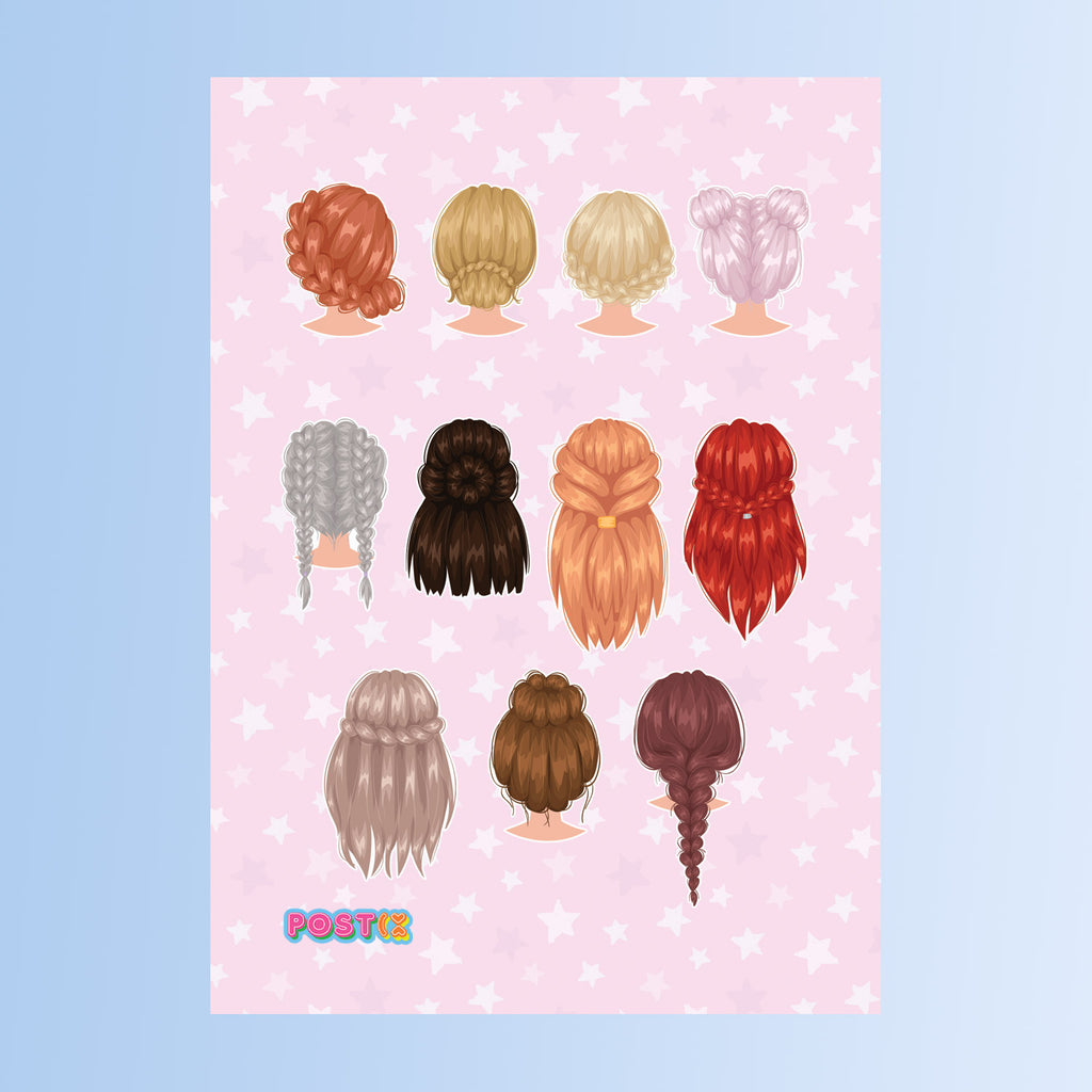 Lovely Locks Eco-Friendly A7 Sticker Sheet