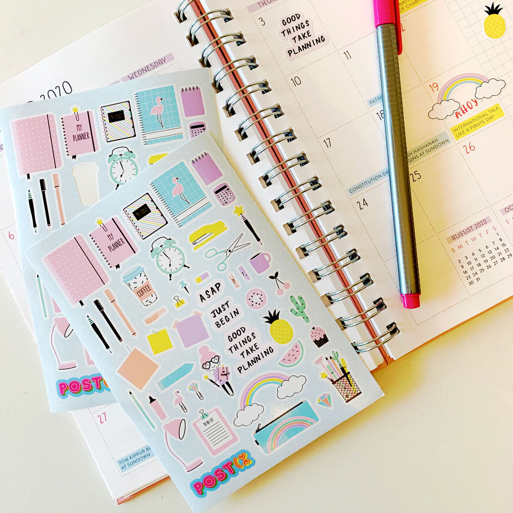 Planner Lovers A6 Sticker Sheet