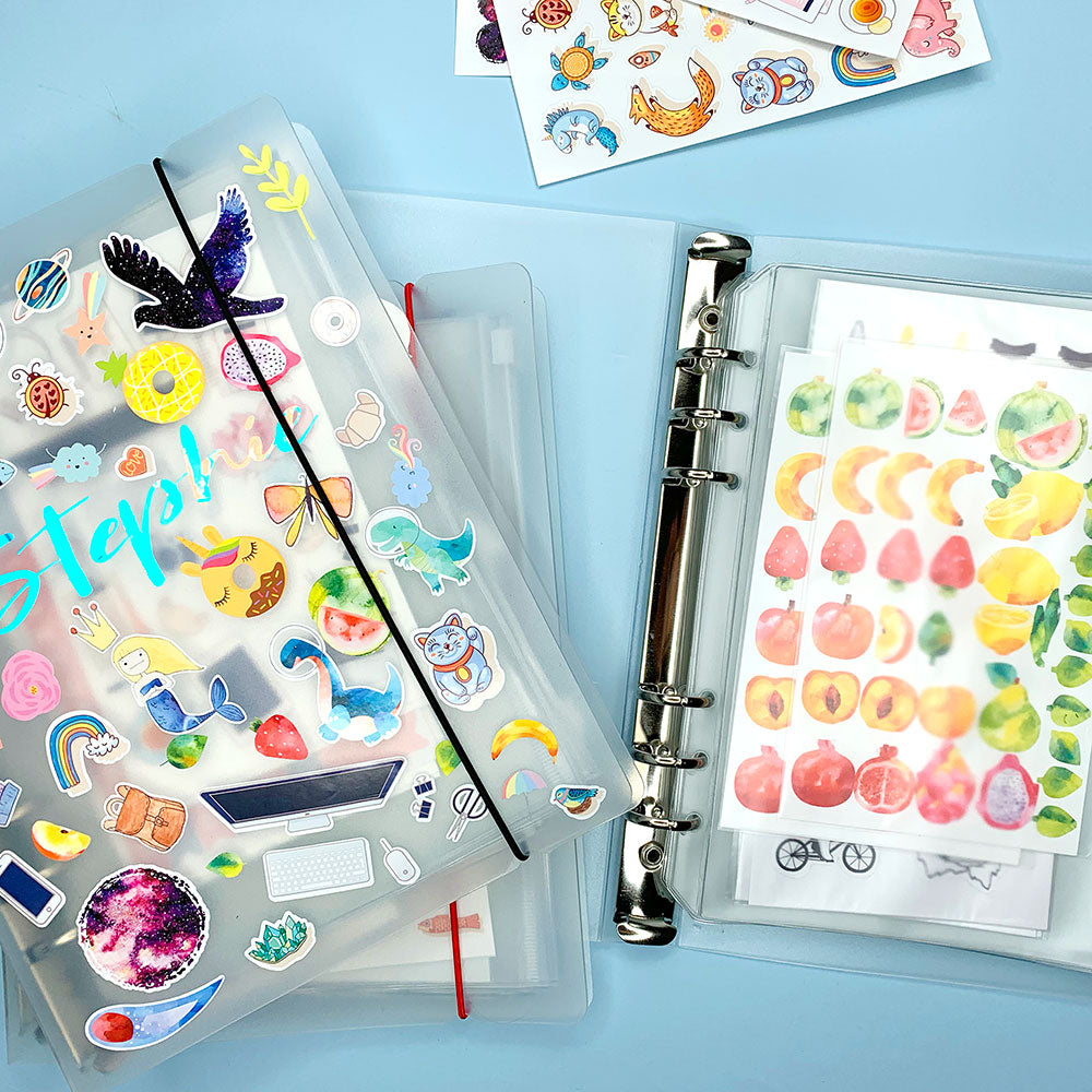 A5 Sticker Organiser Folder with 8 Sleeves