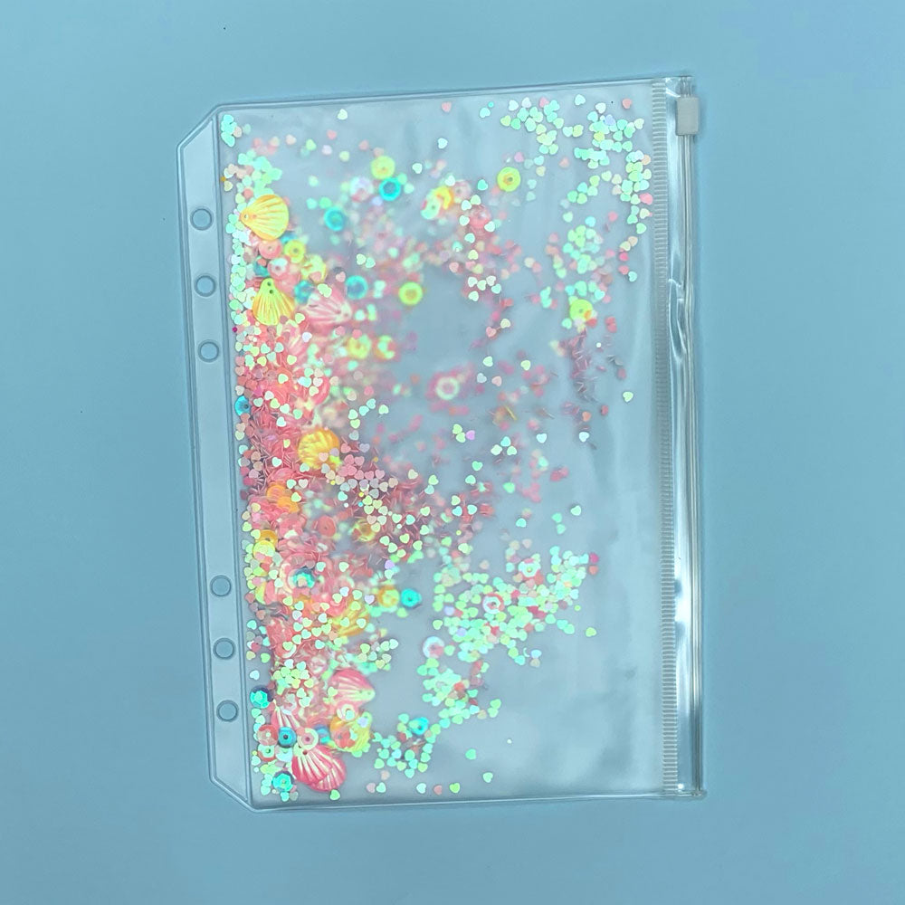 Sticker Organiser Pink Sparkle Sleeve