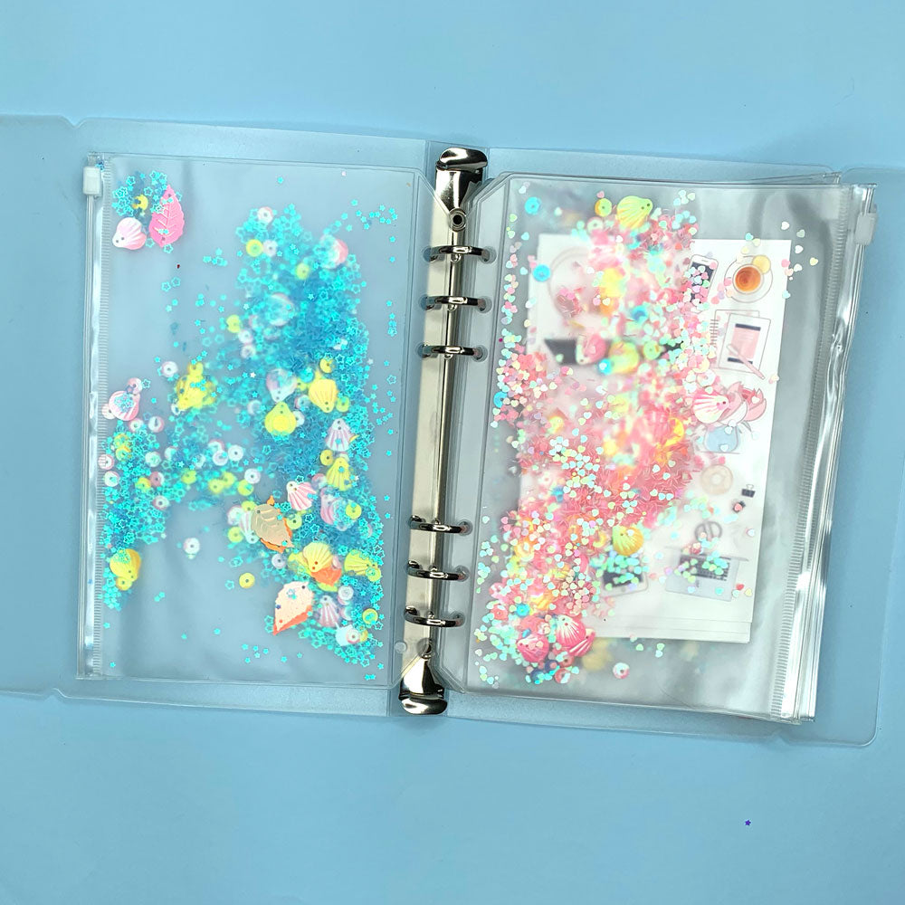 Sticker Organiser Blue Sparkle Sleeve