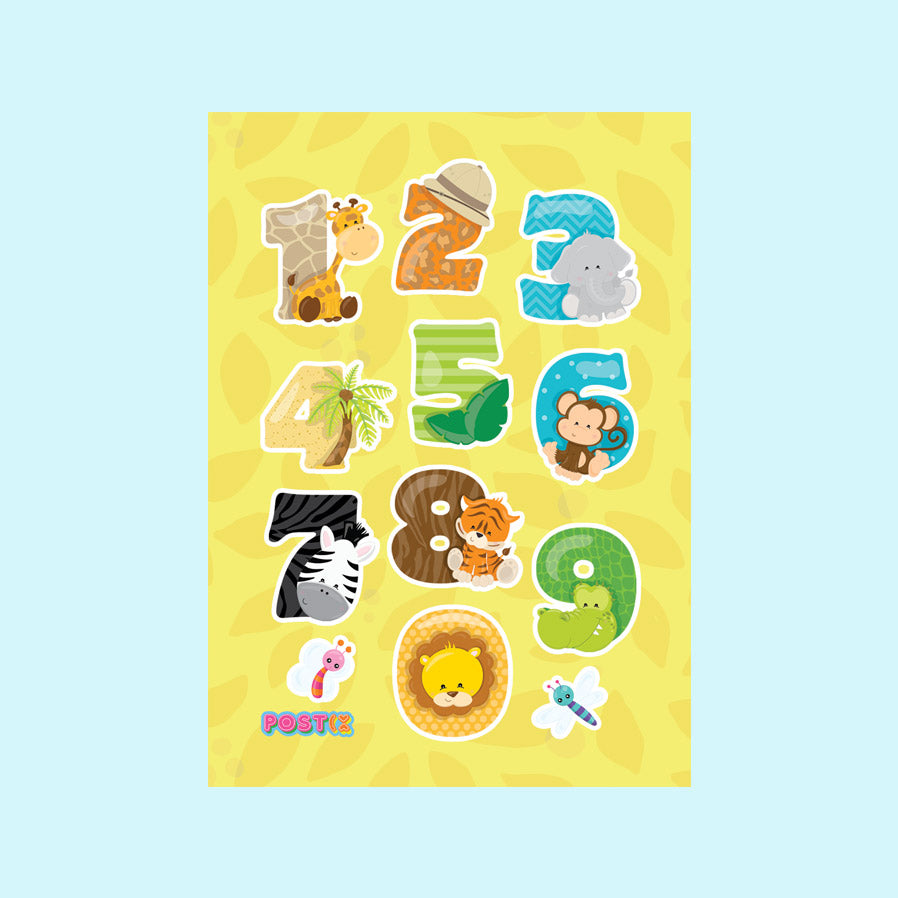 Count on Animals Eco-Friendly A7 Sticker Sheet