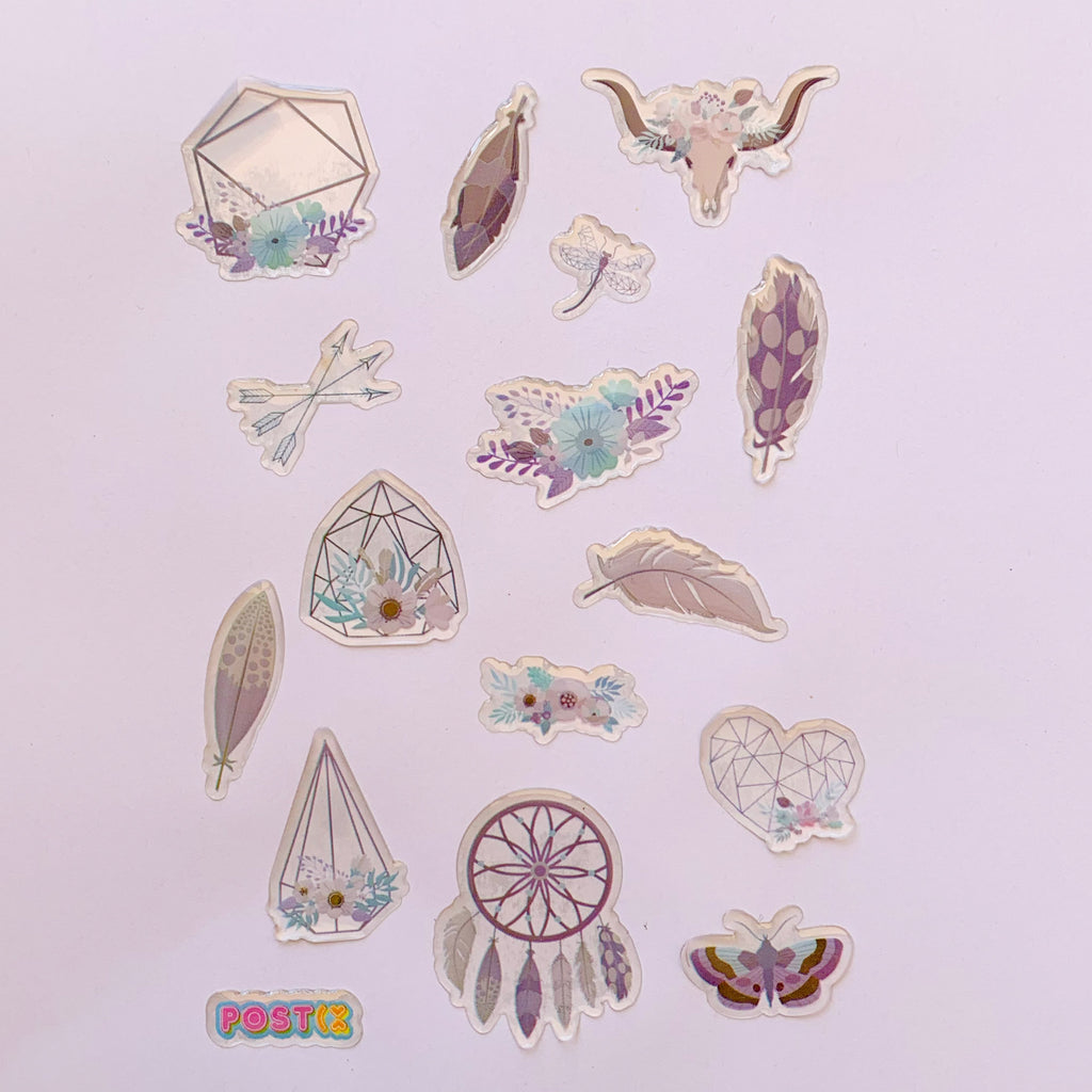 Boho Chic A6 3D Sticker Sheet