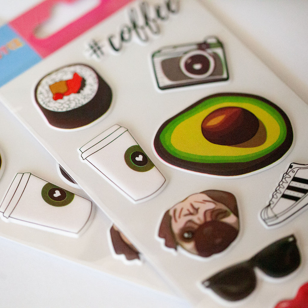 Brunch Date 3D Sticker Sheet