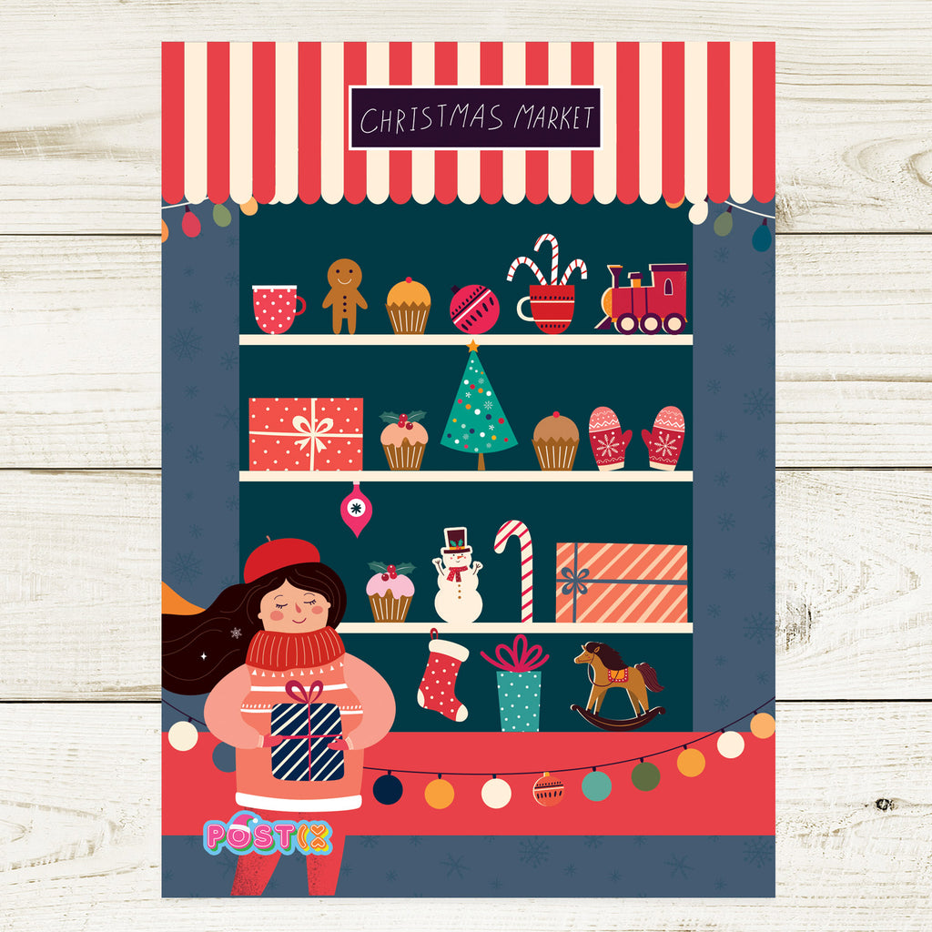 Christmas Market A6 Sticker Sheet