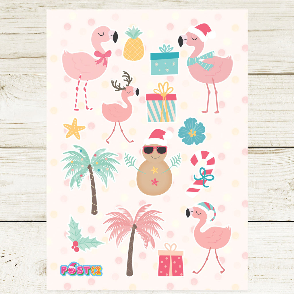 Summer Christmas A6 Sticker Sheet