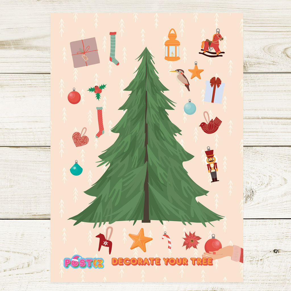 Decorate Your Tree A6 Sticker Sheet