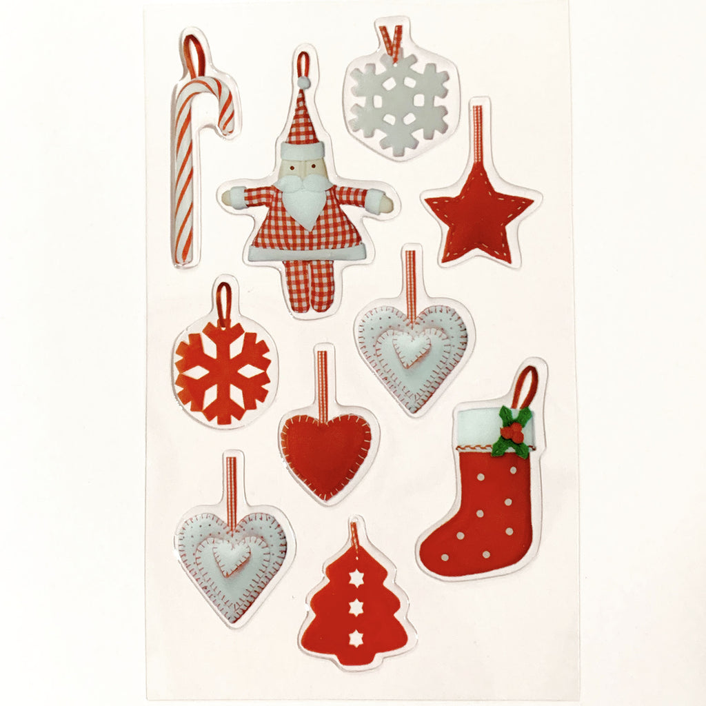 3D Ornaments Sticker Sheet