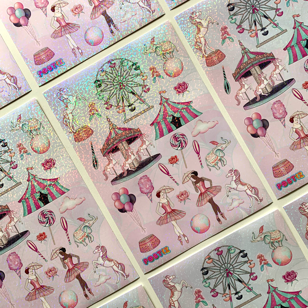 Circus Fantasy A5 Hologram Sticker Sheet