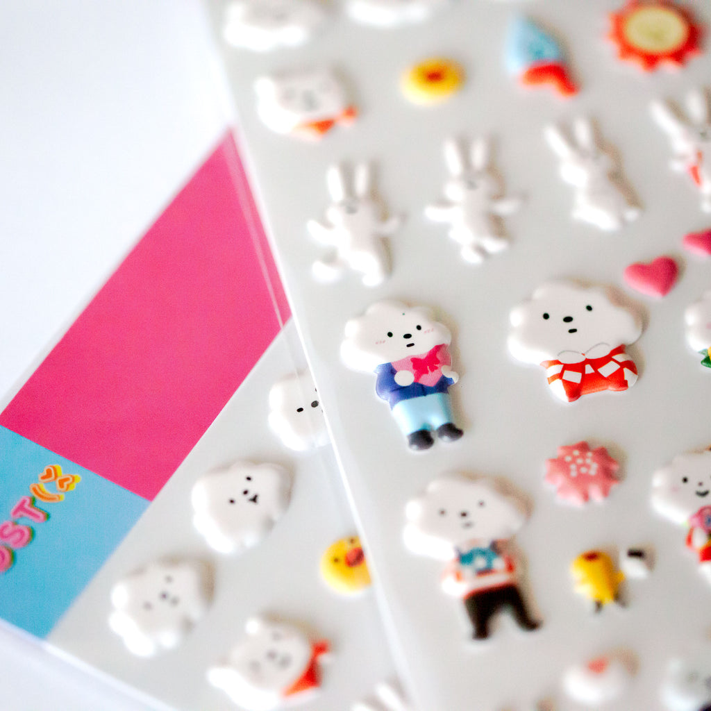Cloud Friends 3D Sticker Sheet