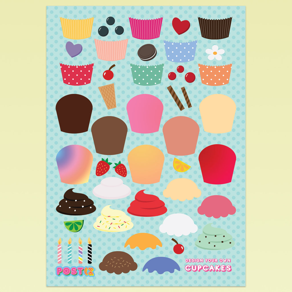 Cupcake Creator Eco-Friendly A5 Stickers