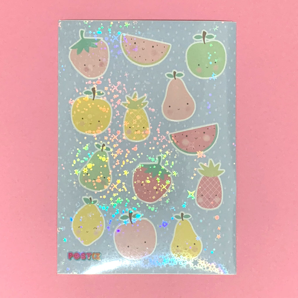 Cutie Fruities Hologram A6 Sticker Sheet