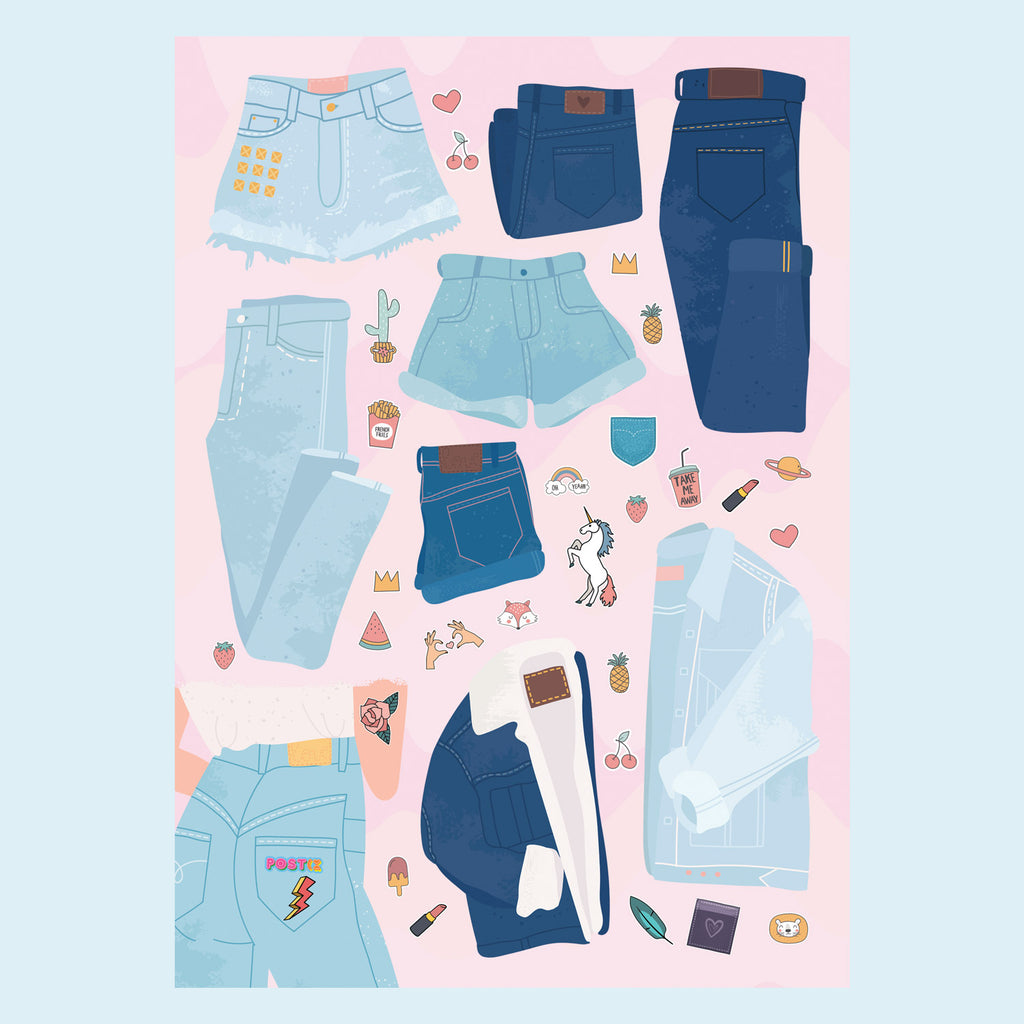 Design Your Denim A6 Sticker Sheet