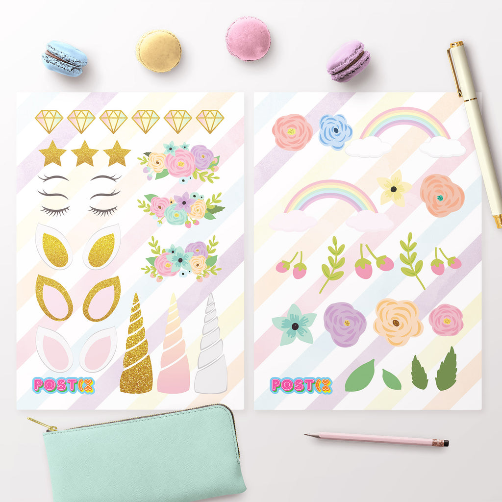 Design a Unicorn Stickers A6 Twin Pack