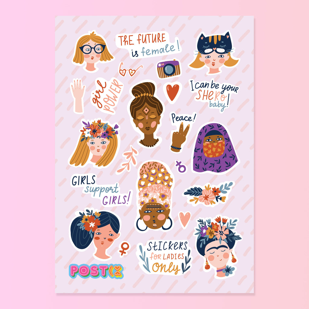 United Girls of the World A6 Sticker Sheet