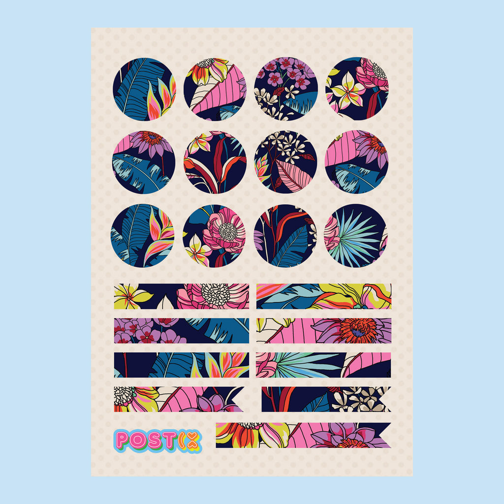 Fashion Florals A7 Eco-Friendly Sticker Sheet