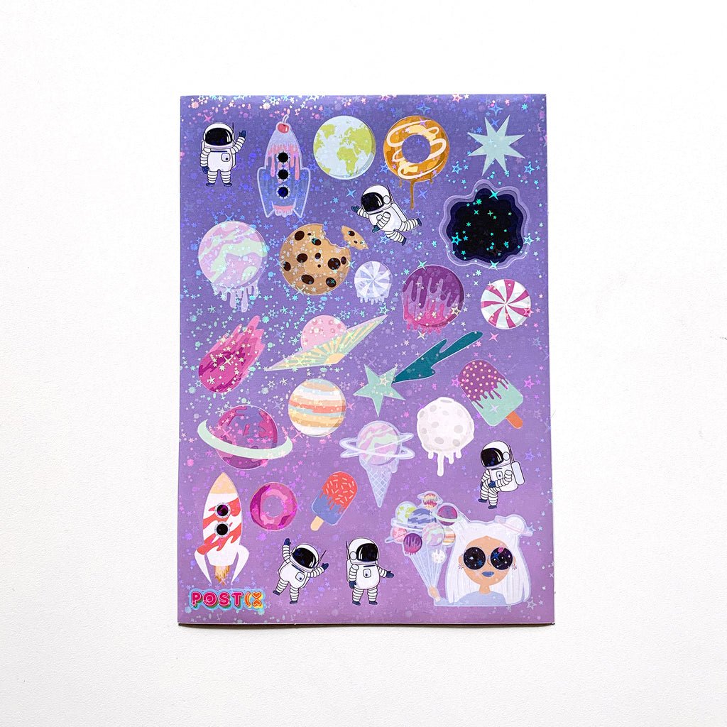Sweet Galaxy A5 Hologram Sticker Sheet