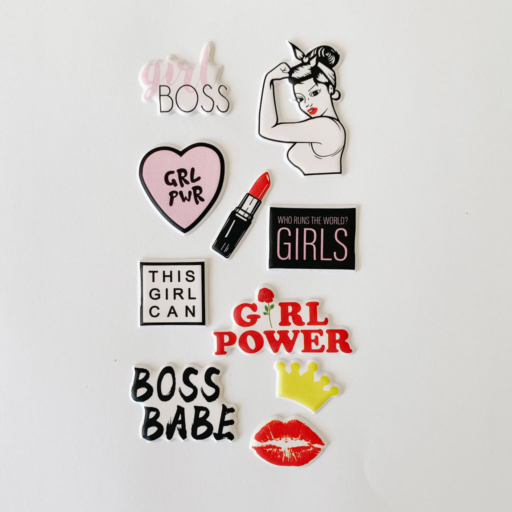 Girl Boss 3D Sticker Sheet