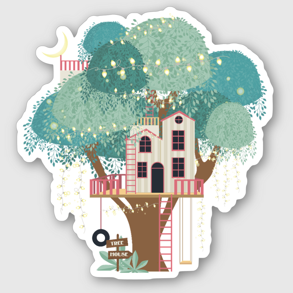 Tree House Sticker