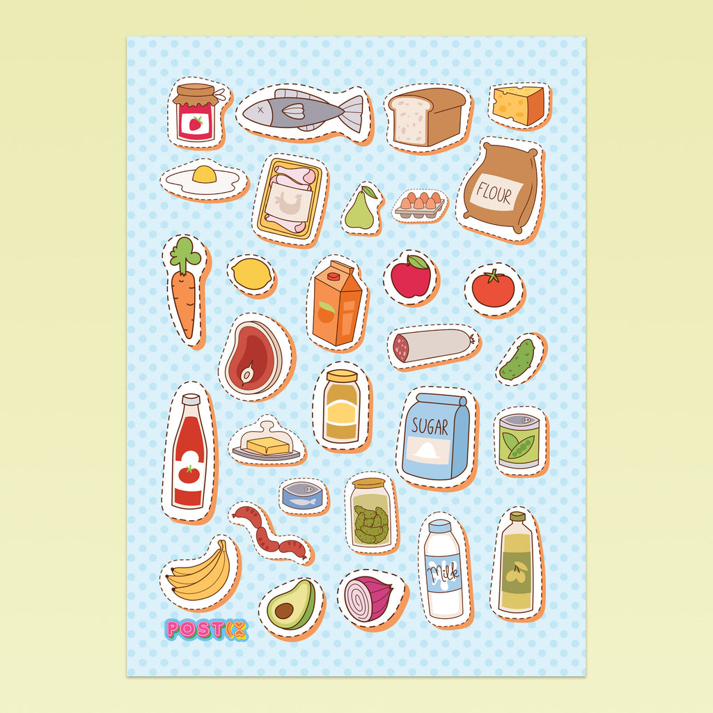Pantry Pieces A6 Sticker Sheet