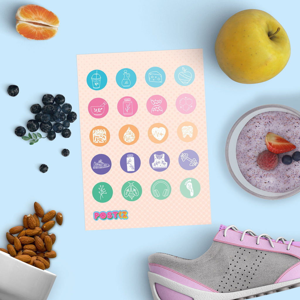 Healthy Planning A6 Sticker Sheet