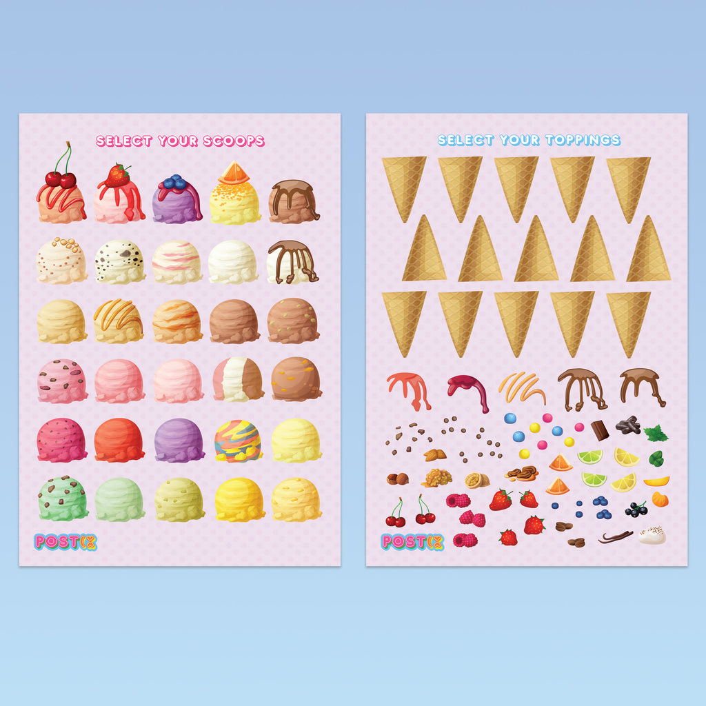Ice Creamery Twin Pack Eco-Friendly A5 Stickers