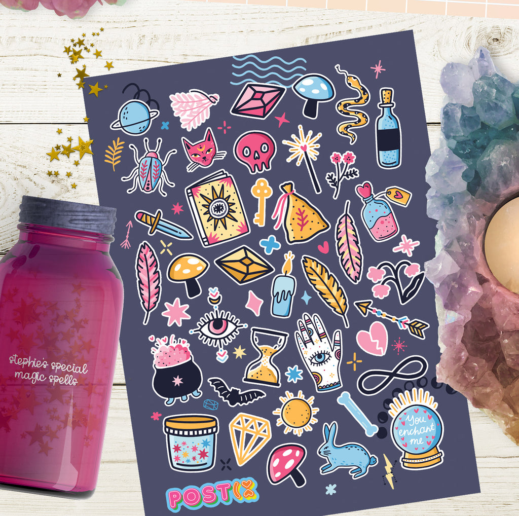 Magic Potion A6 Sticker Sheet